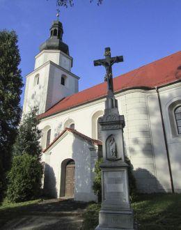 Przydrożny krzyż kamienny. Żyrowa, gmina Zdzieszowice, powiat krapkowicki.