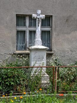 Krzyż przydrożny, kamienny. Kazimierz, gmina Głogówek, powiat prudnicki.