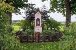 Przydrożna kapliczka na Woli. Błażowa Dolna, gmina Błażowa, powiat rzeszowski.