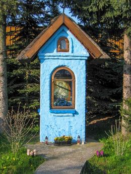 Kapliczka przydrożna murowana. Kielnarowa, gmina Tyczyn, powiat rzeszowski.