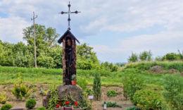 Droga krzyżowa. Stacja I: Pan Jezus skazany na śmierć. Autor: Zdzisław Pękalski z Hoczwi. Zagórz, powiat sanocki.