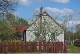 Prawosławny krzyż przydrożny. Gregorowce, gmina Orla, powiat bielski.