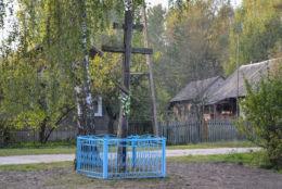 Prawosławny krzyż przydrożny. Miklasze, gmina Orla, powiat bielski.