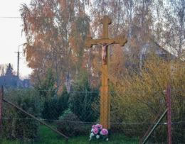 Prawosławny krzyż przydrożny. Orla, powiat bielski.