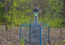 Kamienny krzyż przydrożny. Szernie, gmina Orla, powiat bielski.