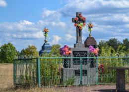 Prawosławna kapliczka przydrożna. Grabowiec, gmina Dubicze Cerkiewne, Hajnówka County.