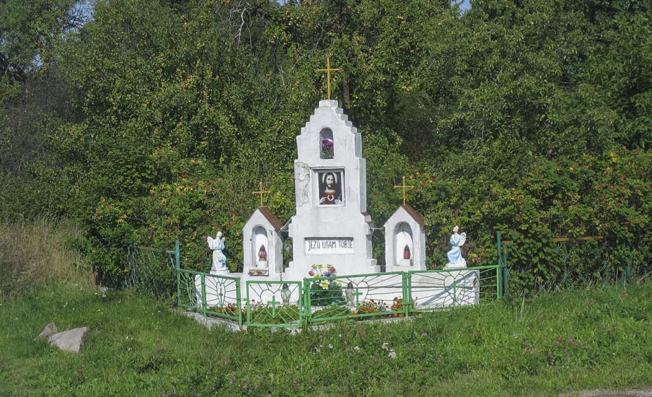 Kapliczka przydrożna. Wielka Wieś, gmina Główczyce, powiat słupski.