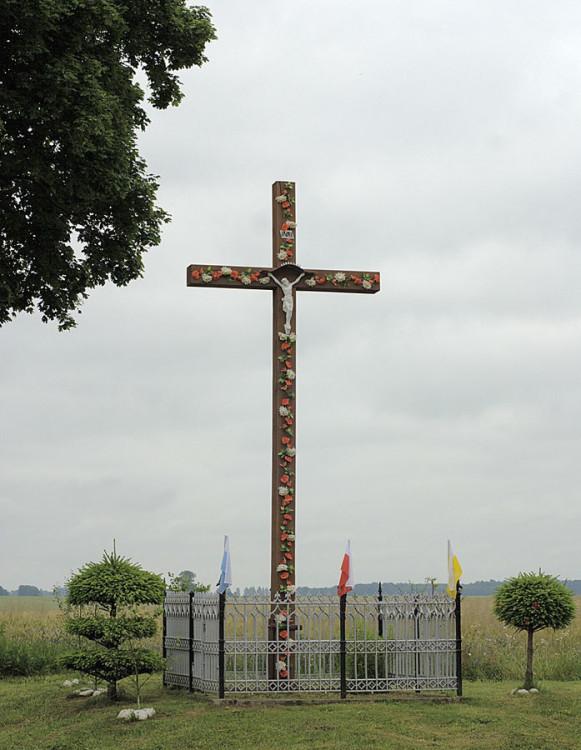 Krzyż przydrożny. Zagórzyca, gmina Damnica, powiat słupski.