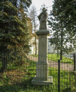 Przydrożna kapliczka z figurą św. Jana Nepomucena. Bielsko-Biała, powiat bielski.