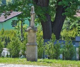 Krzyż prydrożny z 1876 r. Fundatorowie Andrzej i Anna Dobjowie. Bielsko-Biała, Straconka, Bielsko-Biała.