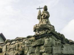 Figura św. Jana Nepomucena. Koniaków , gmina Istebna, powiat cieszyński.