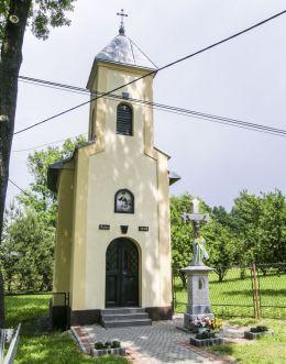 Przydrożna kapliczka domkowa. Zabłocie, gmina Strumień, powiat cieszyński.