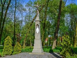 Krzyż przydrożny z 1887 roku przy ulicy Parkowej. Gliwice, Bojków, Gliwice.