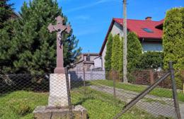Krzyż przydrożny z 1890 roku, przy ulicy Rolników. Gliwice, Bojków, Gliwice.