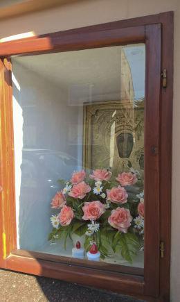 Kapliczka przydrożna przy ulicy Lompy 4. Lubsza, gmina Woźniki, powiat lubliniecki.