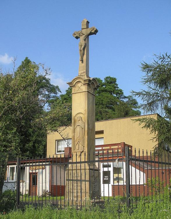 Krzyż przydrożny z 1875 roku. Mikołów, powiat mikołowski.