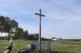Krzyż przydrożny na skrzyżowaniu ulic Zgońskiej i Królówki. Suszec, powiat pszczyński.