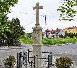 Krzyż przydrożny z 1896 roku. Radlin, powiat wodzislawski.
