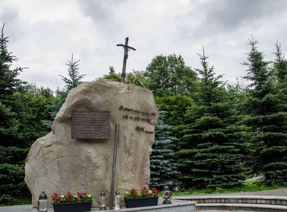 Kapliczka kamienna. Węgierska Górka, powiat żywiecki.