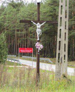Krzyż przydrożny. Sielpia Mała, gmina Końskie, powiat konecki.