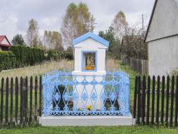 Kapliczka przydrożna murowana. Wąsosz Nowiny, gmina Końskie, powiat konecki.