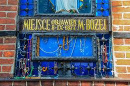 Kapliczka Objawień z 1877 r. Gietrzwałd, powiat olsztyński.