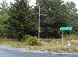 Przydrożny krzyż. Budzyń, powiat chodzieski.
