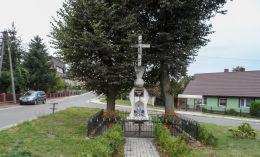 Przydrożny krzyż murowany. Laskowo, gmina Szamocin, powiat chodzieski.