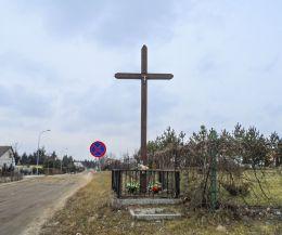 Przydrożny krzyż. Margonin, powiat chodzieski.