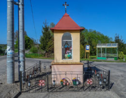 Kapliczka przydrożna murowana. Oleśnica, gmina Chodzież, powiat chodzieski.