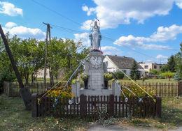 Kapliczka przydrożna ufundowana w 1947 roku. Prosna, gmina Budzyń, powiat chodzieski.