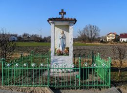 Przydrożna kapliczka. Radwanki, gmina Margonin, powiat chodzieski.