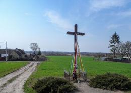 Krzyż przydrożny. Romanowo Górne, gmina Czarnków, czarnkowsko-trzcianecki.