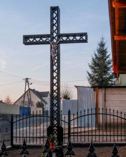 Przydrożny krzyż przy ulicy Poznańskiej, dawnym Przedmieściu Poznańskim. Kościan, powiat kościański.