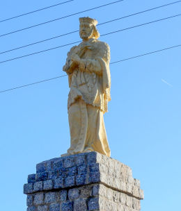 Przydrożna figura św. Jana Nepomucena. Wilkowice, gmina Lipno, powiat leszczyński.