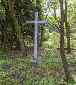 Krzyż na dawnym cmentarzu ewangelickim. Sękowo, gmina Nowy Tomyśl, powiat nowotomyski.