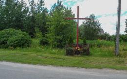 Krzyż przydrożny. Dobrzyca, gmina Szydłowo, powiat pilski.