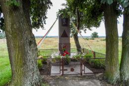 Przydrożna kapliczka. Dworzakowo, gmina Białośliwie, powiat pilski.
