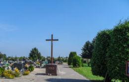 Krzyż drewniany z 1903 r. Nowa Wieś Ujska, gmina Ujście, powiat pilski.