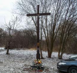 Krzyż przydrożny, aleja Niepodległości. Piła, powiat pilski.