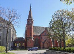 Arcybiskupie Seminarium Duchowne. Figura Jezusa Chrystusa przy ul. Wieżowej. Poznań, Poznań.