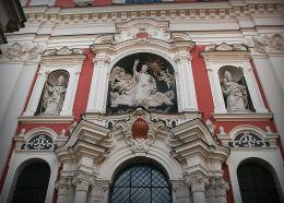 Zespół figur w fasadzie kościoła farnego. Poznań, Poznań.