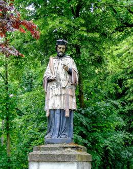 Figura św. Jana Nepomucena. Błociszewo, gmina Śrem, powiat śremski.