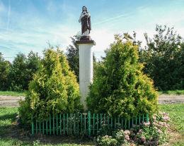 Kapliczka słupowa z figurą Chrystusa. Grabianowo, gmina Brodnica, powiat śremski.