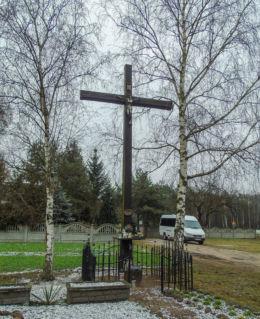 Krzyż przydrożny. Barłożnia Wolsztyńska, gmina Wolsztyn, powiat wolsztyński.