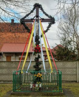 Krzyż przydrożny. Jażyniec, gmina Siedlec, powiat wolsztyński.