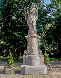 Barokowa figura św. Jana Nepomucena. Kaszczor, gmina Przemęt, powiat wolsztyński.