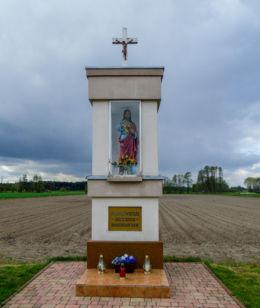 Przydrożna kapliczka Chrystusa przy drodze do Obry. Kiełkowo, gmina Siedlec, powiat wolsztyński.