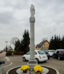 Kapliczka kolumnowa z figurą św. Józefa. Przemęt, powiat wolsztyński.