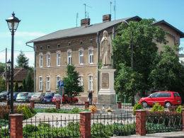 Figura Serca Jezusowego przy ulicy 5 Stycznia, pierwotna z 1895 r. Wolsztyn, powiat wolsztyński.